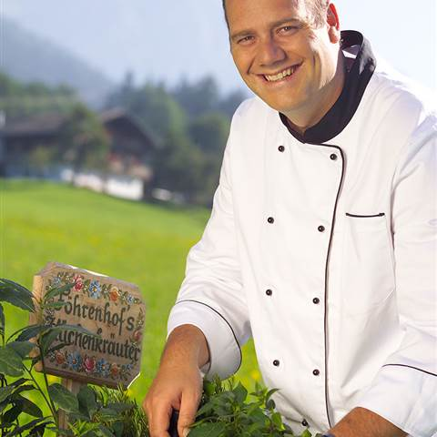 Cook at the herb patch
